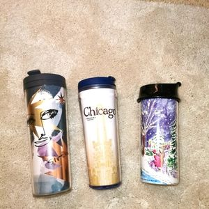 3 discontinued Starbucks tumblers